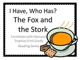 """Fox and the Stork """"I HAVE, WHO HAS?"""" Sight Word Practice for Harcourt Trophies"""