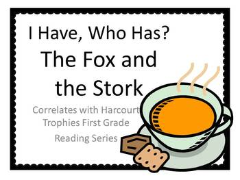"Fox and the Stork ""I HAVE, WHO HAS?"" Sight Word Practice for Harcourt Trophies"
