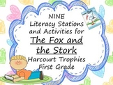 Fox and the Stork Literacy Stations for Harcourt Trophies