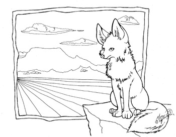 Fox coloring sheet