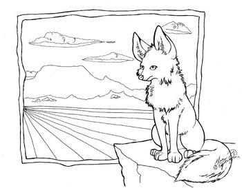 Fox coloring sheet