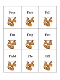 Fox /f/ Word Cards
