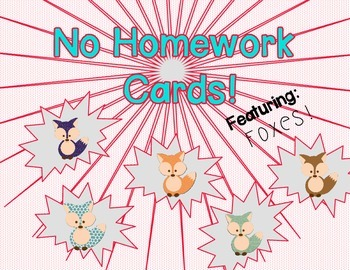 Fox homework passes -Freebie!