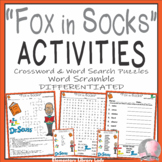 Fox in Socks Activities Dr. Seuss Crossword Puzzle, Word Searches & Scramble