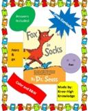 Fox in Socks Book Activities