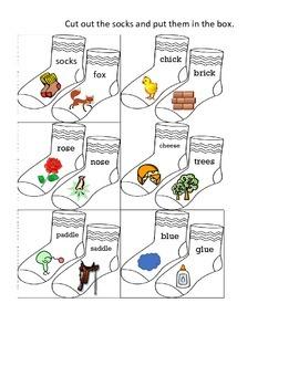Fox in Socks Box Worksheet