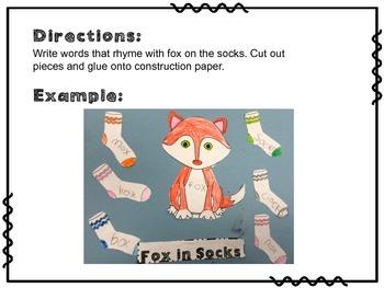Fox in Socks Rhyming