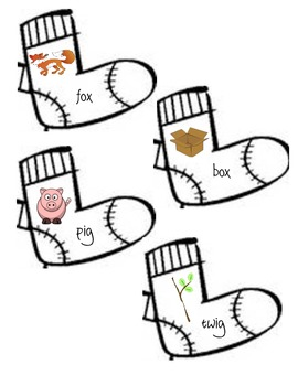 Fox in Socks Rhyming Memory Game