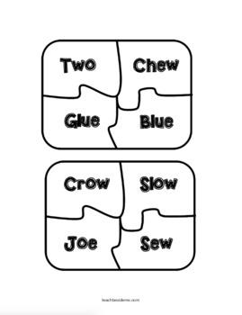Fox in Socks Rhyming Word Puzzles