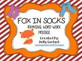 Fox in Socks: Rhyming Words