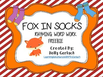 Fox in Socks: Rhyming Words