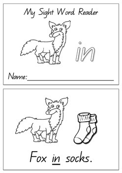 photo about Fox in Socks Printable Template referred to as Fox In just Socks Worksheets Schooling Elements Academics Spend