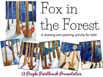 Fox in the Forest: A Winter Watercolor Painting for Kids