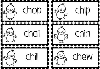 Fox in the Hen House! A reading fluency card game with sh, ch and th words.