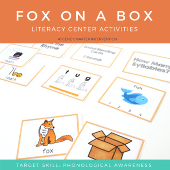 Language & Early Literacy Task Cards - Fox on a Box