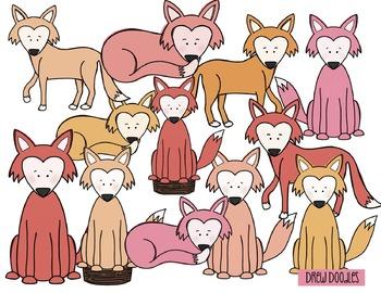 Foxes Digital Clip Art Set