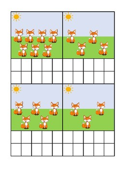 Foxes Ten Frame Counting Activity