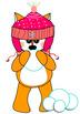 Foxes and snow: Set of clip art-  Des renards et de la neige: Clip art