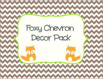 Foxy Chevron Decor Pack