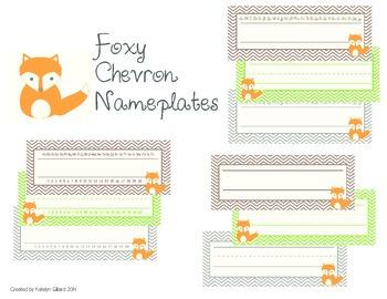 Foxy Chevron Namplates
