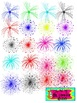 Foxy Fireworks Clip Art for Personal or Commercial Use