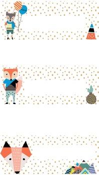 Foxy Friends Labels