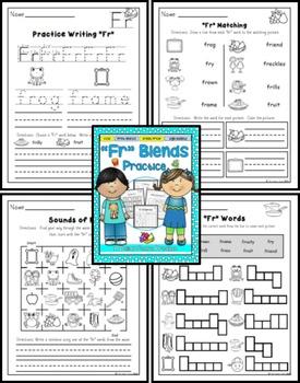 Fr Blend Practice Printables