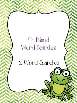 Fr Blend Word Searches!