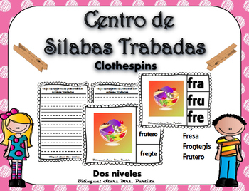 Fr Centro de Silabas Trabadas Grupos Consonanticos StationsBilingual Mrs.Partida