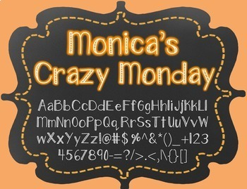 {FREE} Font - Monica's Crazy Monday