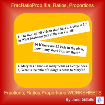 FracRatioProp IIIa: Ratios, Proportions, and Fractional Parts