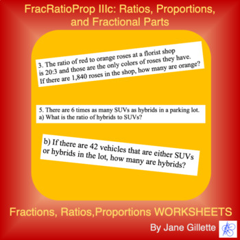FracRatioProp IIIc: Ratios, Proportions, and Fractional Parts