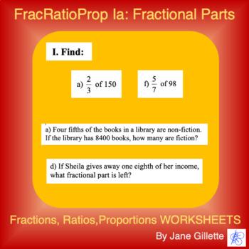 FracRatioProp Ia: Fractional Parts