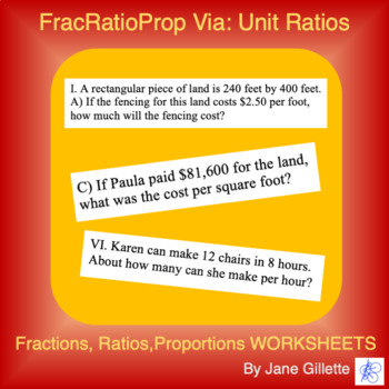 FracRatioProp VIa: Ratios - Per Amounts