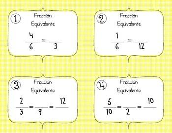 Fracciones Equivalentes, Simplificar, y Convertir Fracciones