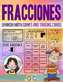 Fracciones - Tarjetas De Intercambio - Spanish Math Vocabu