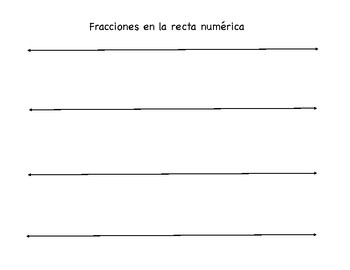 Recta Numerica Fracciones Teaching Resources | Teachers Pay Teachers