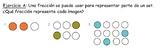 Fracciones que se puede usar para representar parte de un set