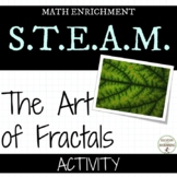 Fractals Exploring the Art of Fractals Math Activity UPDATED