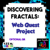 Fractals Web Quest Project with QR  | Distance Learning
