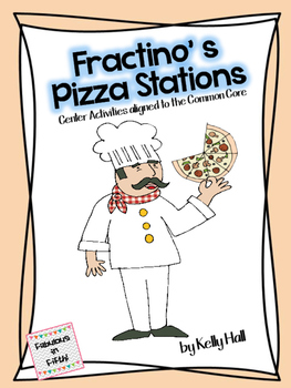 Fractino's Pizza Stations:  Fraction Centers aligned to Common Core