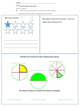 Fraction Assessment