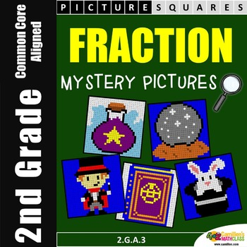 2nd Grade Fraction Activity, Identifying Fractions Color by Number Code