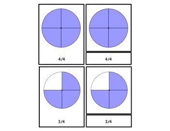 Fraction 3 Part Cards