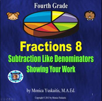 Common Core 4th - Fraction 8 - Subtracting Like Denominato