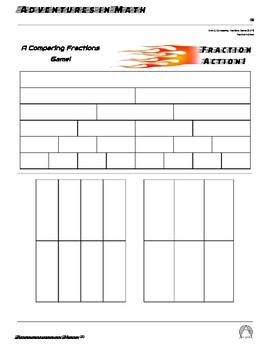 Fraction Action!  A Comparing Fractions Game! (TEKS 3.3H)