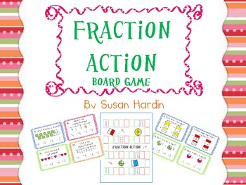 Fraction Action Board Game