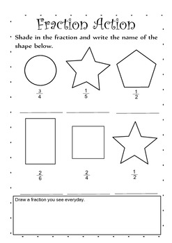 Fraction Action- Dividing and Shading fractions
