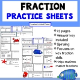 Fractions - Fraction of the Day or Week