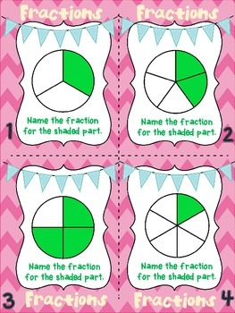 Fraction Action: Identifying Fractions with Task Card Activities